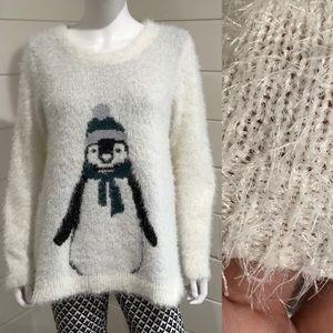 French Laundry penguin eyelash sweater sz L